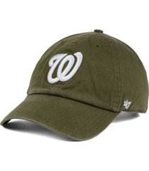 '47 brand washington nationals olive white clean up cap