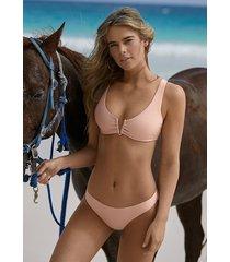 pilyq pink sand halter bikini