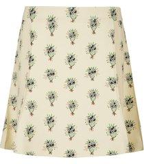 floral printed short skirt