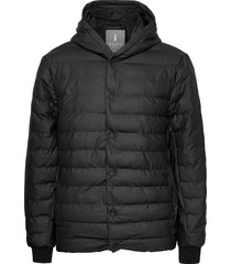 trekker hooded jacket fodrad jacka svart rains
