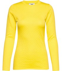 thermal wool tiffi t-shirts & tops long-sleeved geel mads nørgaard