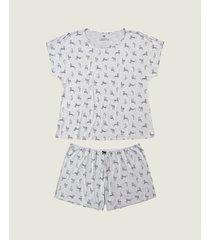 pijama plus size zebras em viscose malwee liberta cinza claro - g1