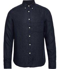 fredrik bd-clean linen skjorta casual blå j. lindeberg