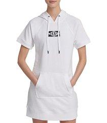 short-sleeve drawstring hoodie sneaker dress