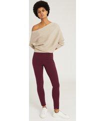 reiss tyne - skinny trousers in bordeaux, womens, size 14