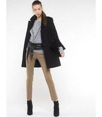 patrizia pepe cappotto in panno di lana