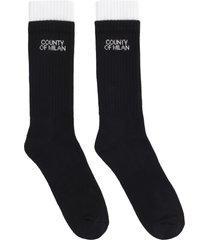 marcelo burlon cotton-blend knee-high socks