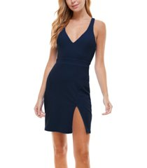 city studios juniors' v-neck bodycon dress
