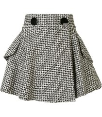 alexander wang tweed flared skirt - black