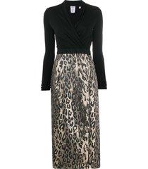 sara roka convertible buttoned wrap dress - black