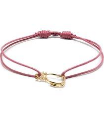 aliita 9kt yellow gold cat cord bracelet - pink