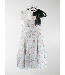 miu miu floral ruffle mini dress