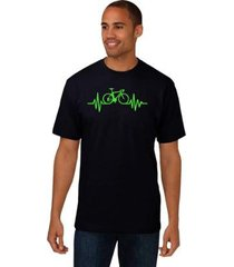 camiseta estampada bicicleta verde manga curta relaxado - masculino