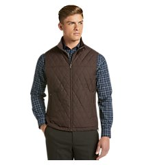 travel tech tailored fit diamond quilted vest - big & tall