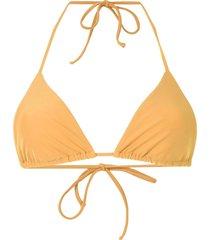matteau string triangle bikini top - yellow