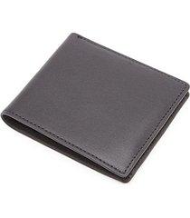 rfid-blocking leather bi-fold wallet