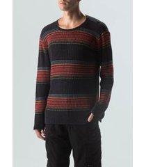 sweater tricot track-pto/vermelho/militar