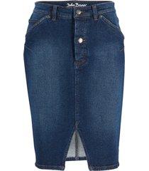 gonna in denim elasticizzato classico (blu) - john baner jeanswear