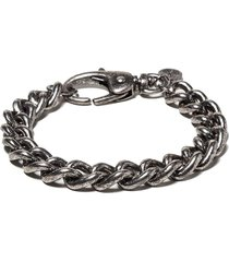 chaveiro john john yuri metal prata velho masculino (prata velho, un)