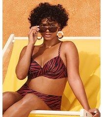 hunkemöller rio-bikiniunderdel med hög midja malibu doutzen röd