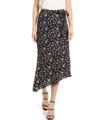 women's chelsea28 asymmetrical faux wrap skirt