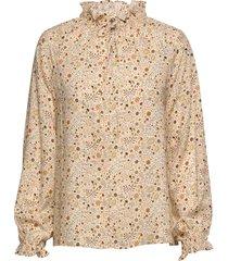 gaia print blouse lange mouwen crème arnie says