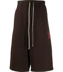 rick owens drkshdw bermuda track shorts - brown