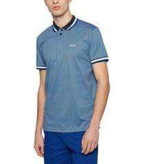 boss men's micro-patterned polo shirt
