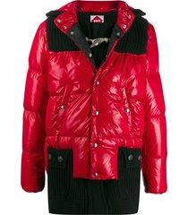 bark b rules ribbed padded coat - red