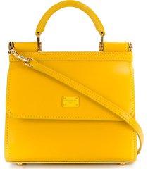 dolce & gabbana micro sicily 58 tote bag - yellow