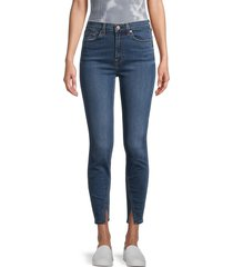 7 for all mankind women's high-rise ankle skinny jeans - blue - size 25 (2)