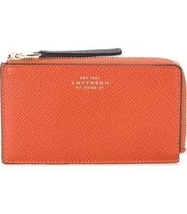 smythson panama zipped purse - orange