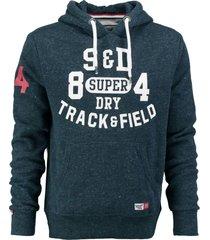 superdry blauwe sweater hoodie