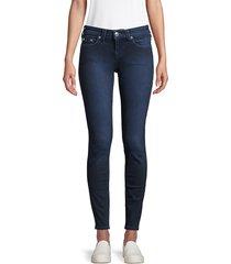 true religion women's halle mid-rise super skinny jeans - medium blue - size 25 (2)