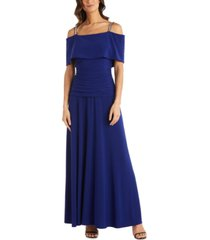 r & m richards cold-shoulder banded gown