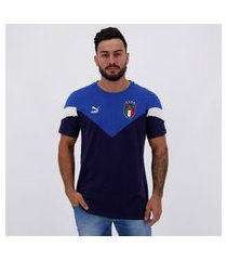 camiseta puma itália iconic mcs azul