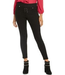 thalia sodi lace-up skinny jeans, created for macy's