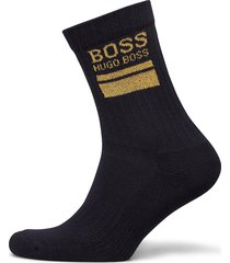 qs rib block logo cc underwear socks regular socks blå boss