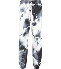 marcelo burlon county of milan tie-dye print track pants - white