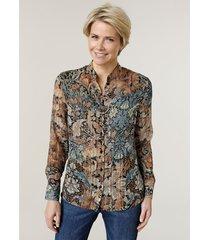 blouse mona cognac::blauw