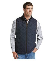 reserve collection traditional fit herringbone quilted vest