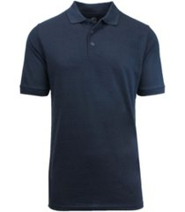 galaxy by harvic men's short sleeve pique polo shirts