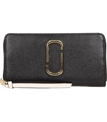 marc jacobs continental black leather wallet