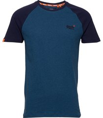 ol classic ss baseball tee t-shirts short-sleeved blå superdry