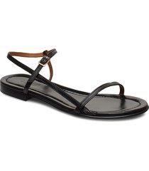 sandals 4132 shoes summer shoes flat sandals svart billi bi