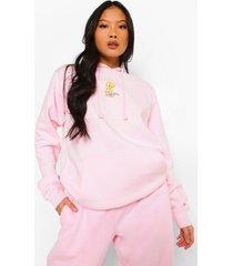 petite gelicenseerde tweety hoodie, light pink