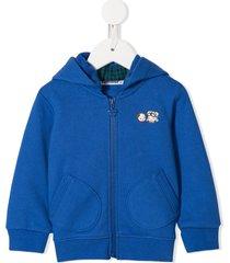 familiar teddy knit vest - blue