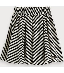 scotch & soda striped jersey mini skirt