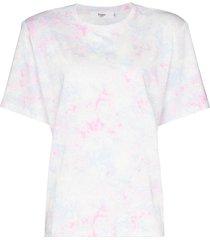 frankie shop jeanette tie-dye padded t-shirt - blue
