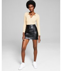 and now this women's faux-leather mini skirt
